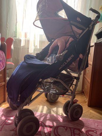 Детская коляска Maclaren Tehno XLR+москитка+сумка+органайзер