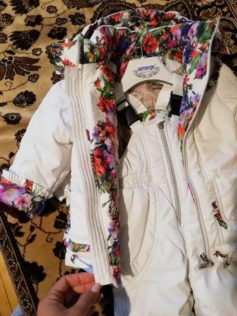 Зимний костюм для девочки, комбинезон