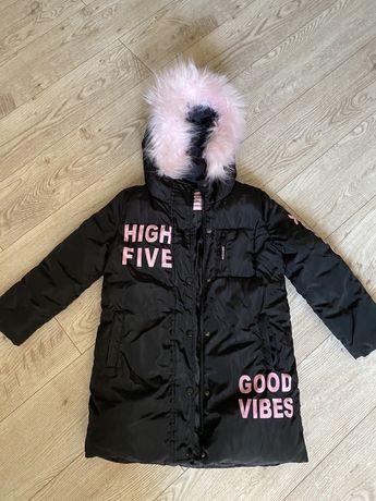 Куртка пальто пуховик зима для девочки