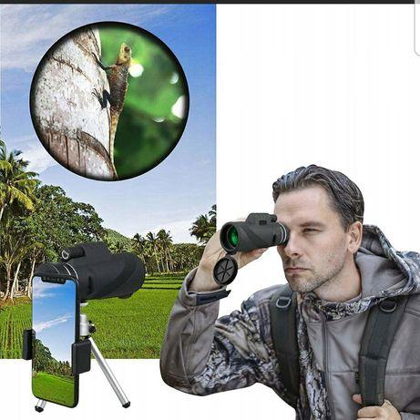 Monookular obiektyw 50x zoom luneta wojskowa statyw lornetka LOMBARD