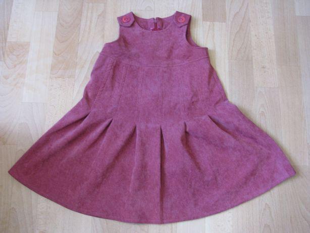 Платье сарафан из вельвета для девочки 3-7 лет .