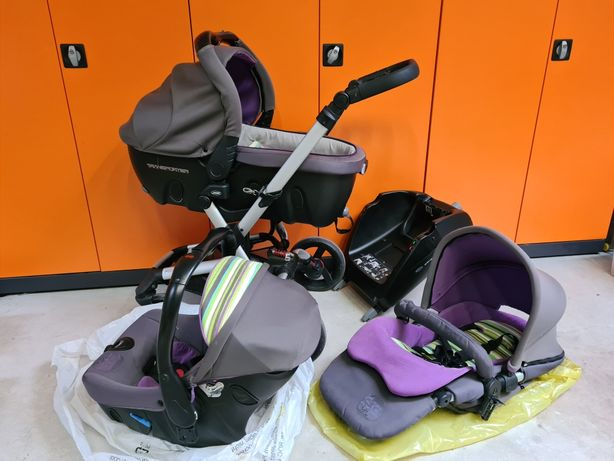 Jane wózek, zestaw ISOFIX nosidełko, spacerówka, fotelik samochodowy