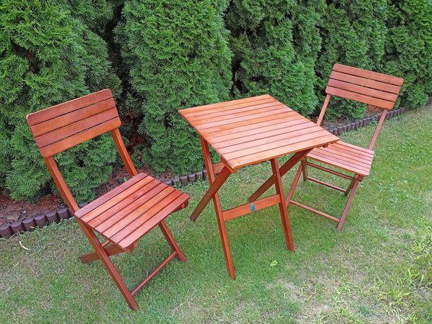 Sprzedam drewniany stół ogrodowy z 2 krzesłami