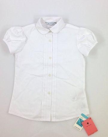 Блузка на пуговицах для девочки в школу 7-8 лет, 128