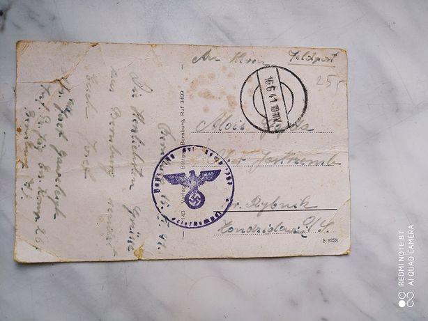 Kartka Pocztowa wysłana w 1941 r.