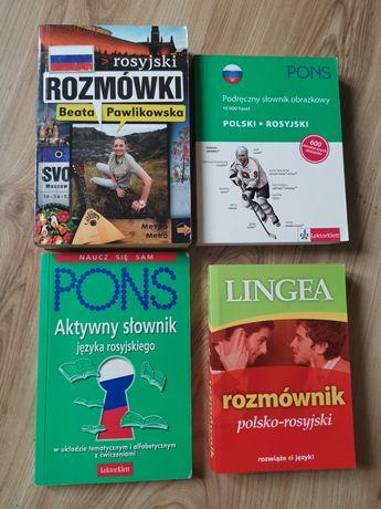 Słownik obrazkowy rosyjski, rozmówki polsko rosyjskie, zestaw
