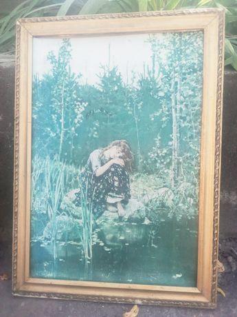 """Репродукция картины Васнецова """"Алёнушка"""" в багетной раме. 1000 грн."""