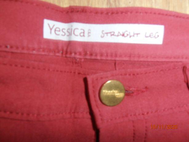 Spodnie damskie Yessica bordowe