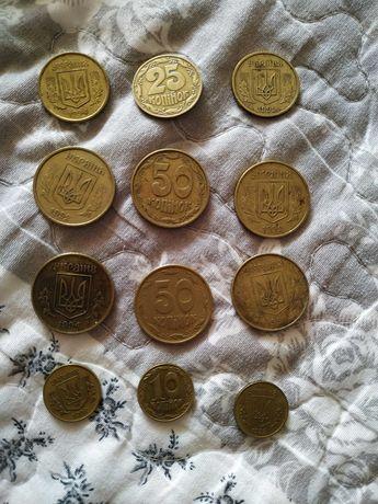 Монеты 50, 25, 10 копеек 1992 и 1994 г.