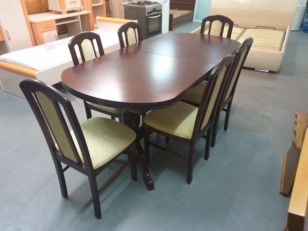 Komplet Stół + 6 Krzeseł