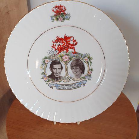 Talerz kolekcjonerski ślub Księżna Diana i Książę Karol