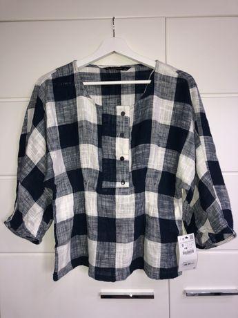 Bluzka bawełniana w krate nowa s