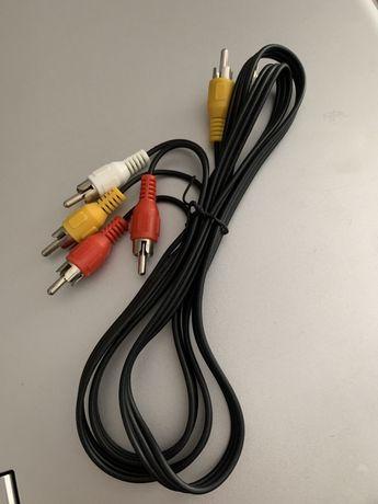 Nowy Przewód kabel cinch x3 1,2m