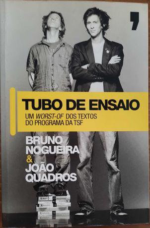 Livro Tubo de Ensaio - Bruno Nogueira e João Quadros