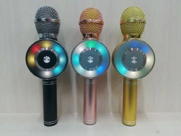 Беспроводной Караоке микрофон KTV WS-668 светомузыка, смена голоса
