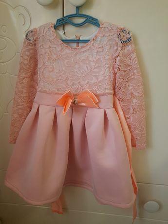 Нежное персиковое платье для принцессы