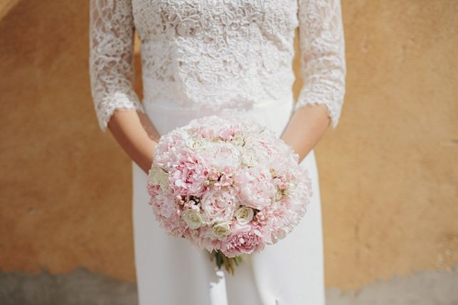 suknia ślubna - koronka, długa