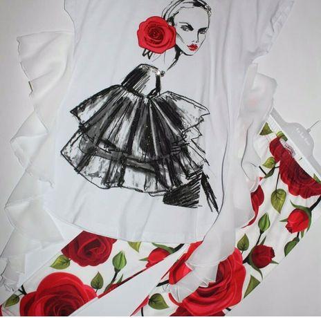 костюм лосины туника футболка