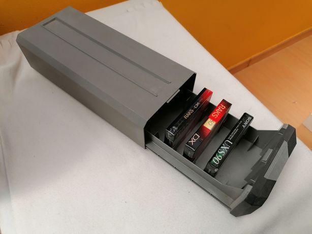Caixa arquivador de cassetes áudio
