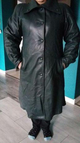 Płaszcz skórzany z podpinka