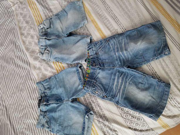 Krotkie spodenki jeansowe 7-8 lat