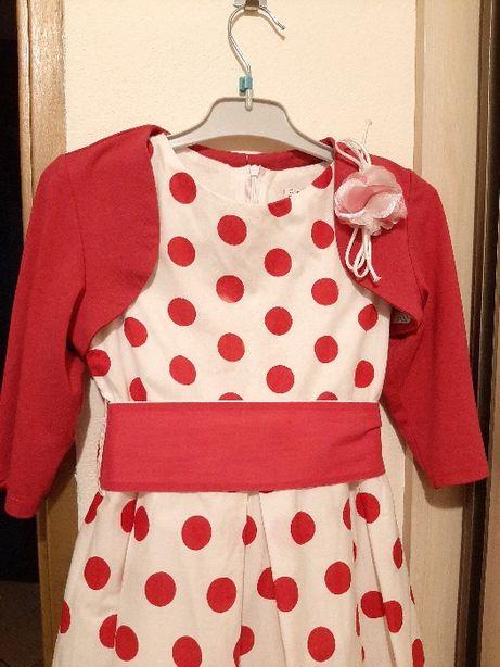 Sukienka dziewczęca roz. 128 cm