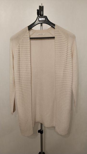Sweter damski kardigan długi różowy marki Reserved Poznań