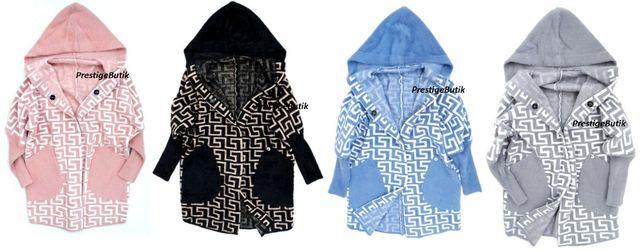 Włoska ALPAKA COCOMORE brand narzutka kurtka wełna wełniana KAPTUR