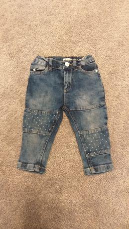 Spodnie jeans r 80