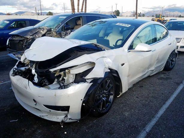 Tesla model 3 реставрация аирбаг руль пассажир колени шторки сидения