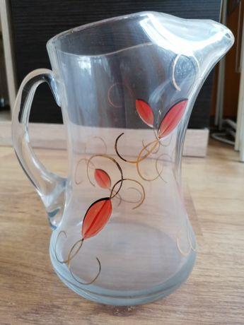 Dzbanek szklany ręcznie zdobiony