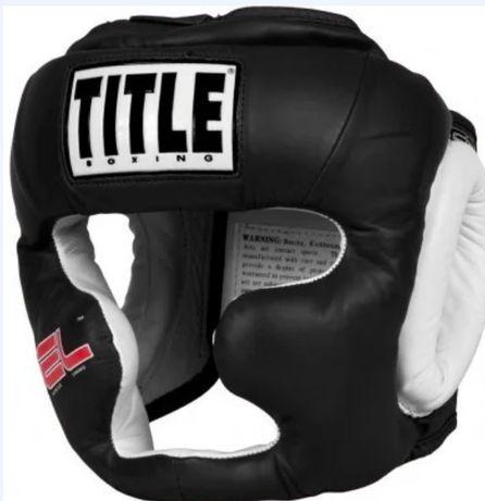Шолом шлём Title Boxing GEL World Full-Face Training. Шлем боксерский.