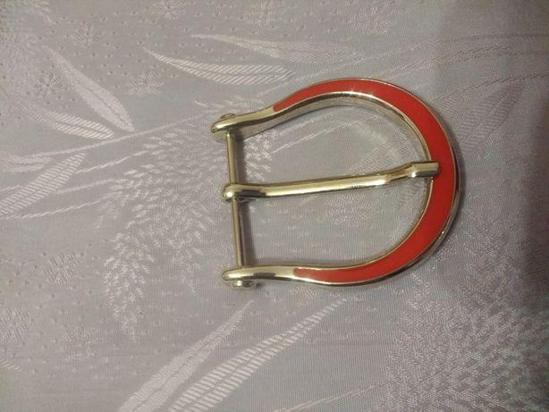Пряжка на ремень женская красная аксессуары фурнитура декор сумка