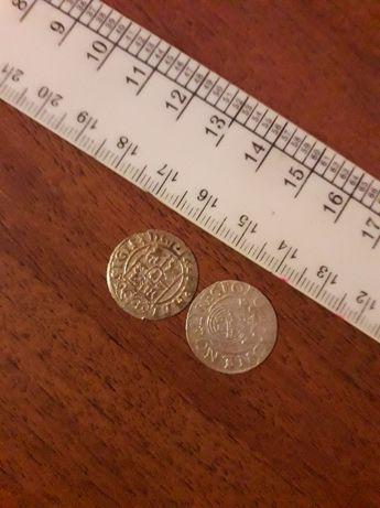 Серебряные старинные коллекционные монеты Средневековой Европы