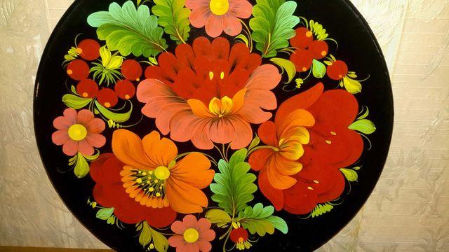 Тарелка тарілка Петриківський розпис