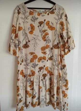 Sukienka w kwiaty ICHI M Eco Vero NOWA