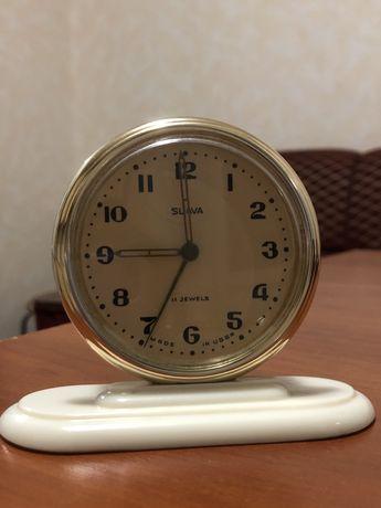Механические часы-будильник SLAVA СССР