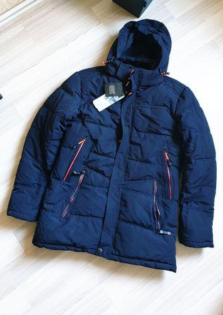 Мужская зимняя куртка пуховик теплая утепленная