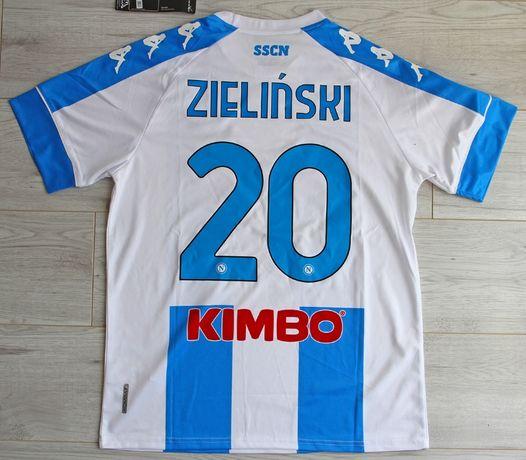 SSC NAPOLI 4th koszulka piłkarska Kappa 20/21, #20 Zieliński, roz. L