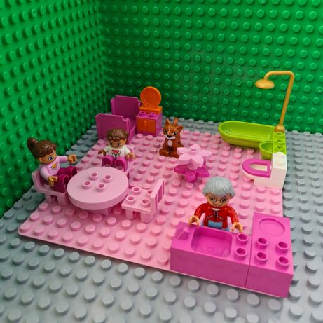 Mini Dom z płytką - pasuję do klocków LEGO DUPLO