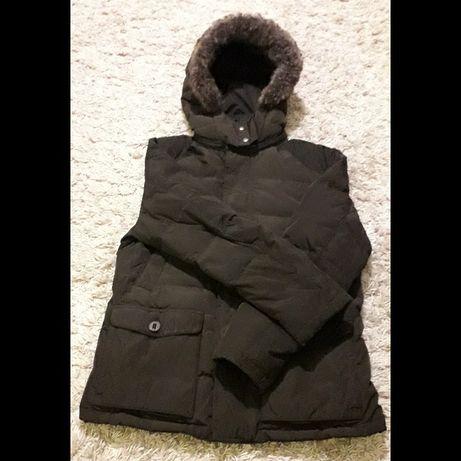 Брендовая зимняя мужская куртка фирмы Massimo Dutti,оригинал,б/у