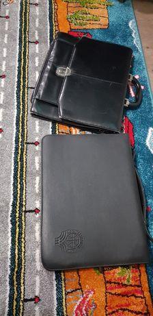 Кожаный мужской портфель для документов