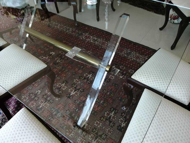 Mesa de jantar de vidro ótimas condições