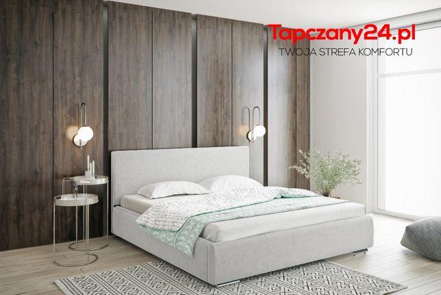 Łóżko tapicerowane sypialniane Łoże małżeńskie Karla +pojemnik +stelaż