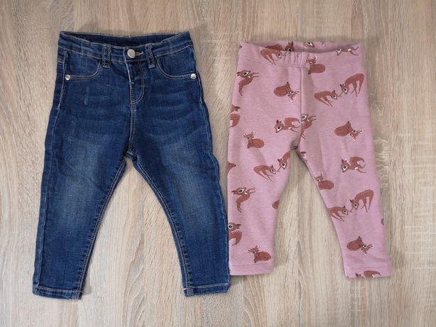 Spodnie jeansy KappAhl leginsy 80