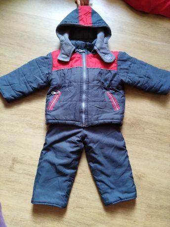 Kombinezon, kurtka + spodnie ocieplane 92