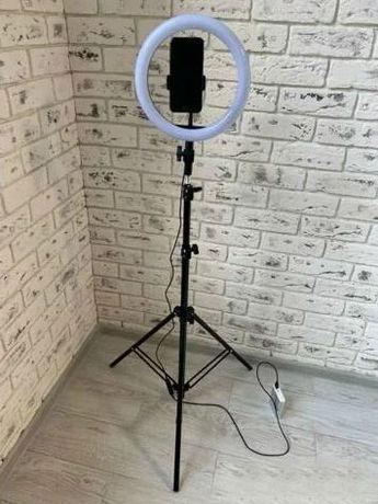 Кольцевая лампа LED 26 см со штативом и с держателем для телефона