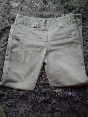 Szare spodnie z kokardkami