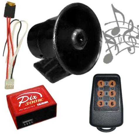 PIX-300RC buzina electrónica de 13 sons com telecomando