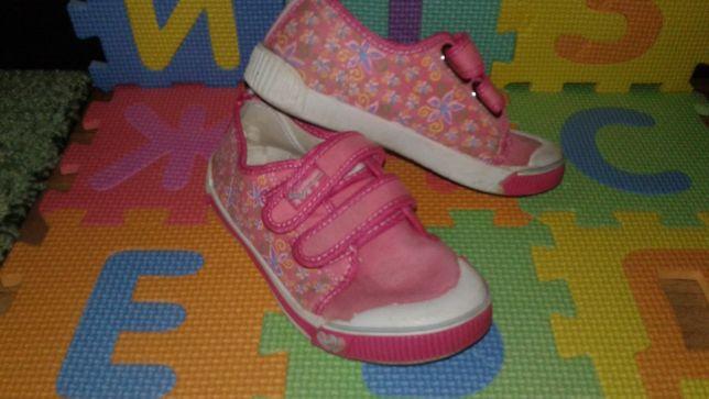 Детские текстильные мокасины кеды для девочки стелька 18,5см